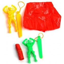 Figurine parachutiste fluo 9 cm vendu par 48 Jouets et kermesse 12512-LOT