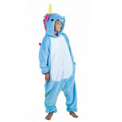 Déguisements, Déguisement Kigurumi licorne bleue enfant 7-9 ans, 862300S, 24,90€