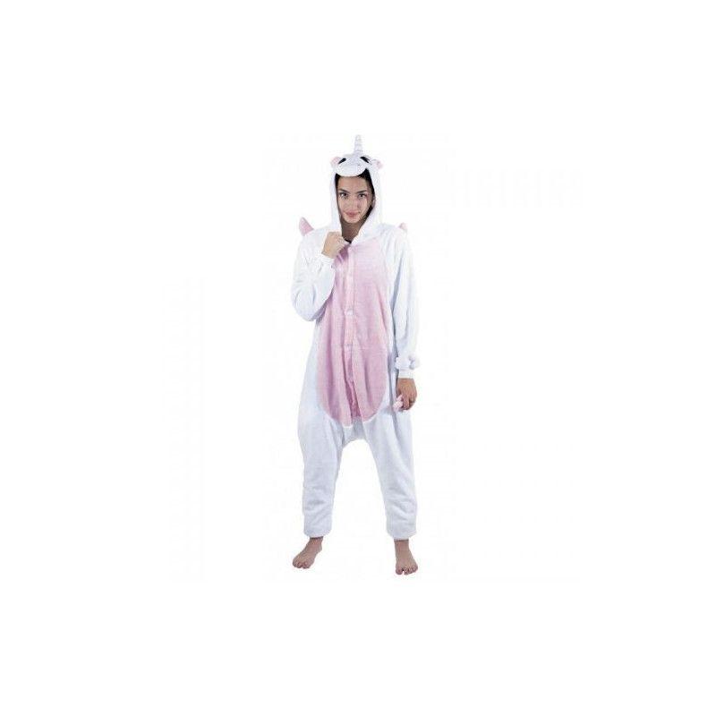 Déguisement Kigurumi licorne blanche et rose femme taille M-L Déguisements 862301