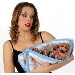 Déco festive, Marionnette bébé monstre zombie 60 cm, 12518, 19,90€