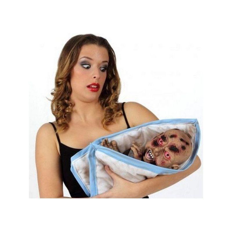 Marionnette bébé monstre zombie 60 cm Déco festive 12518