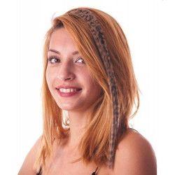 Mèche de cheveux marron léopard à clipser Accessoires de fête 86250