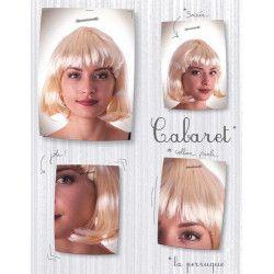 Perruque cabaret blonde Accessoires de fête 86260