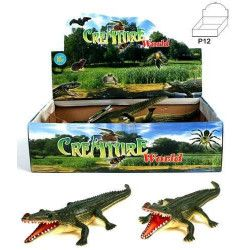 Animal crocodile PVC vendu par 12 Jouets et articles kermesse 12567-LOT