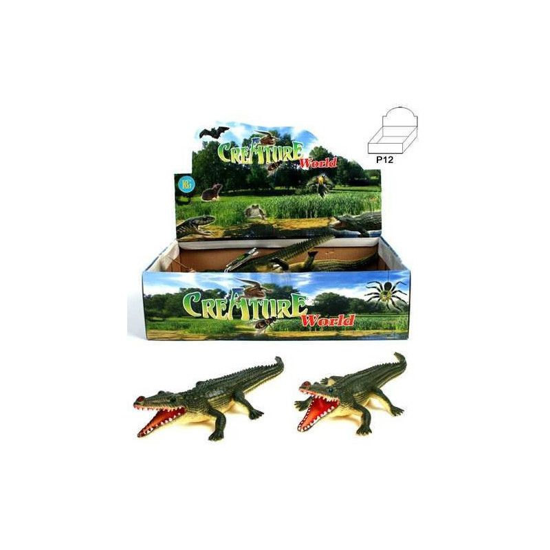 Animal crocodile PVC vendu par 12 Jouets et articles kermesse 12567-LOT