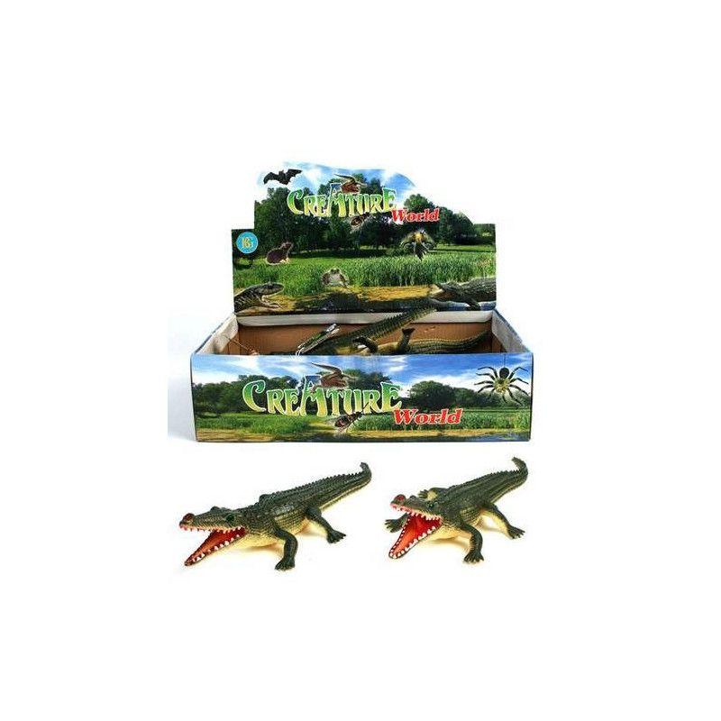 Animal Crocodile en PVC Jouets et articles kermesse 12567-UNITE