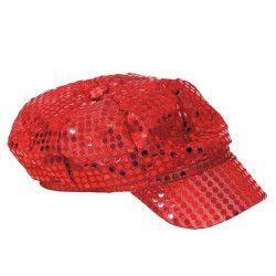 Casquette disco rouge adulte Accessoires de fête 8650103