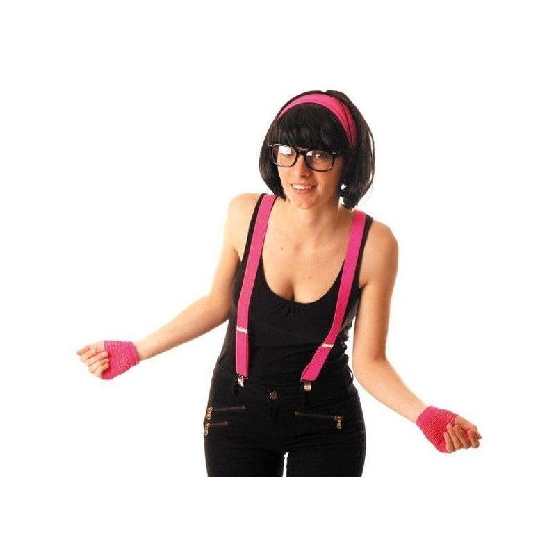 Accessoires de fête, Bretelles fluo rose 80's, 86502410, 2,90€