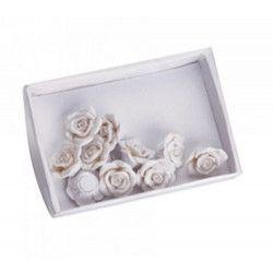 Déco festive, Fleur blanche autocollante en résine x 12, 12607, 3,90€