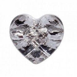 Sachet 6 bijoux coeur en verre mariage Déco festive 12650