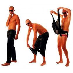 Pantalon Stripteaseur disco noir taille unique Déguisements 8650913