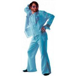 Déguisement disco forever turquoise homme M-L Déguisements 865091815
