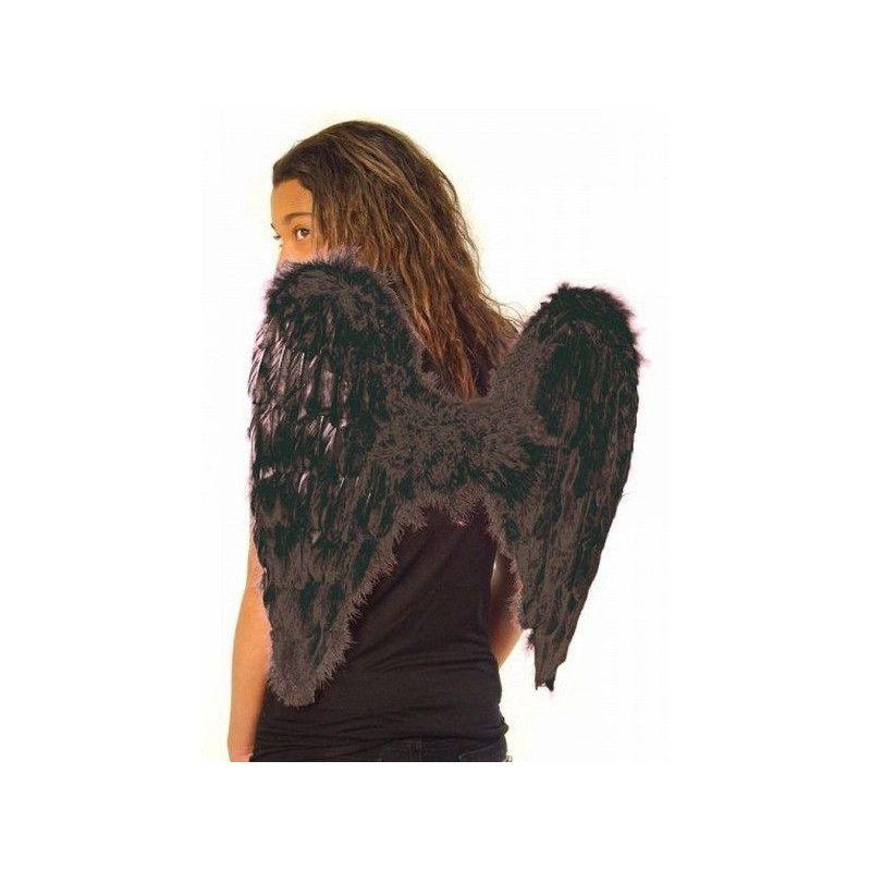 Ailes d'ange noires 50 x 50 cm Accessoires de fête 865093203