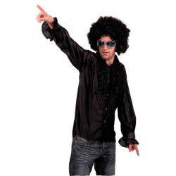 Chemise disco à jabot noir adulte Déguisements 8653150