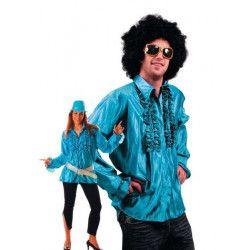 Chemise disco turquoise adulte taille M-L Déguisements 8653151