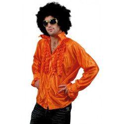 Chemise disco orange adulte taille M-L Déguisements 8653181