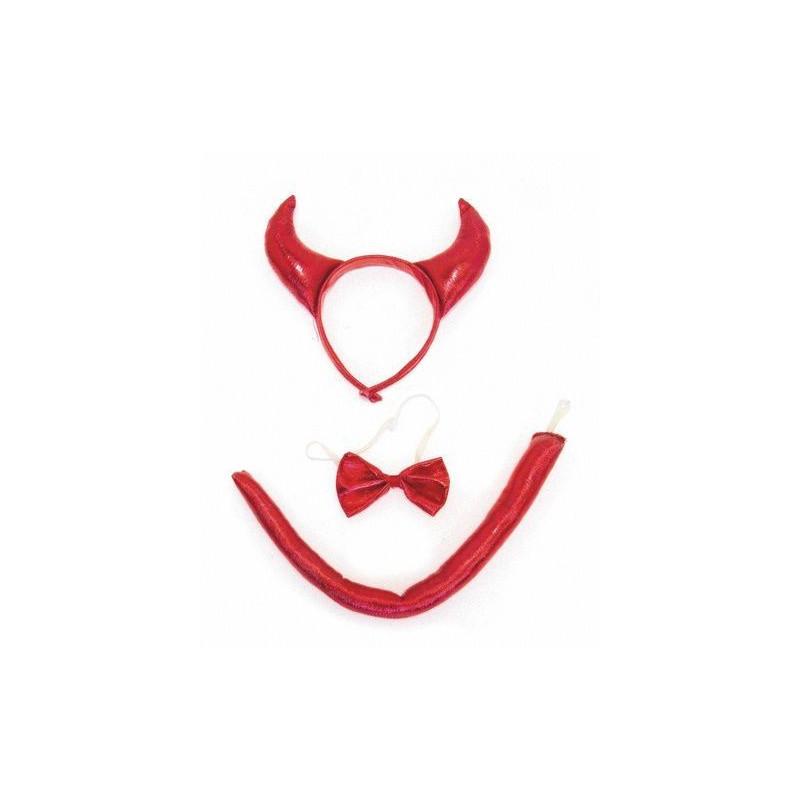 Set de diable rouge 3 pièces Accessoires de fête 8653228