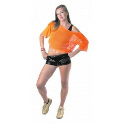 Déguisement tee-shirt fish net orange fluo Déguisements 865391