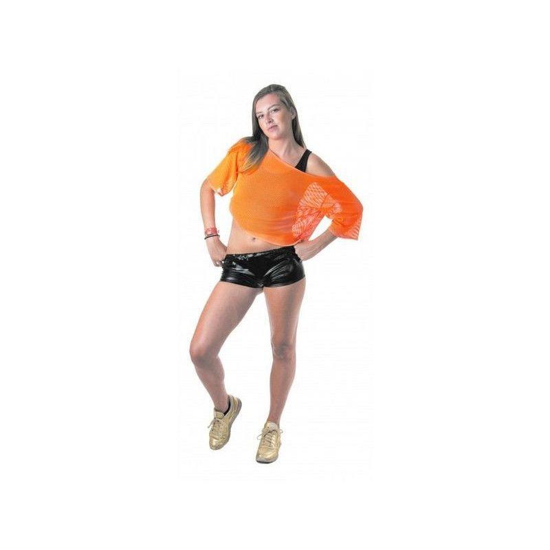 Déguisement tee-shirt fish net orange fluo Déguisements 865391