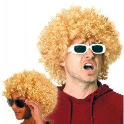 Perruque afro blonde Accessoires de fête 865501
