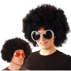 Perruque afro noire mixte Accessoires de fête 865503