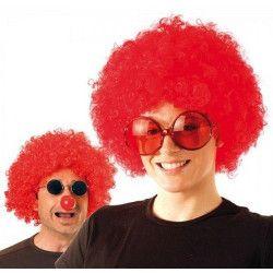 Accessoires de fête, Perruque afro rouge, 865505, 6,90€