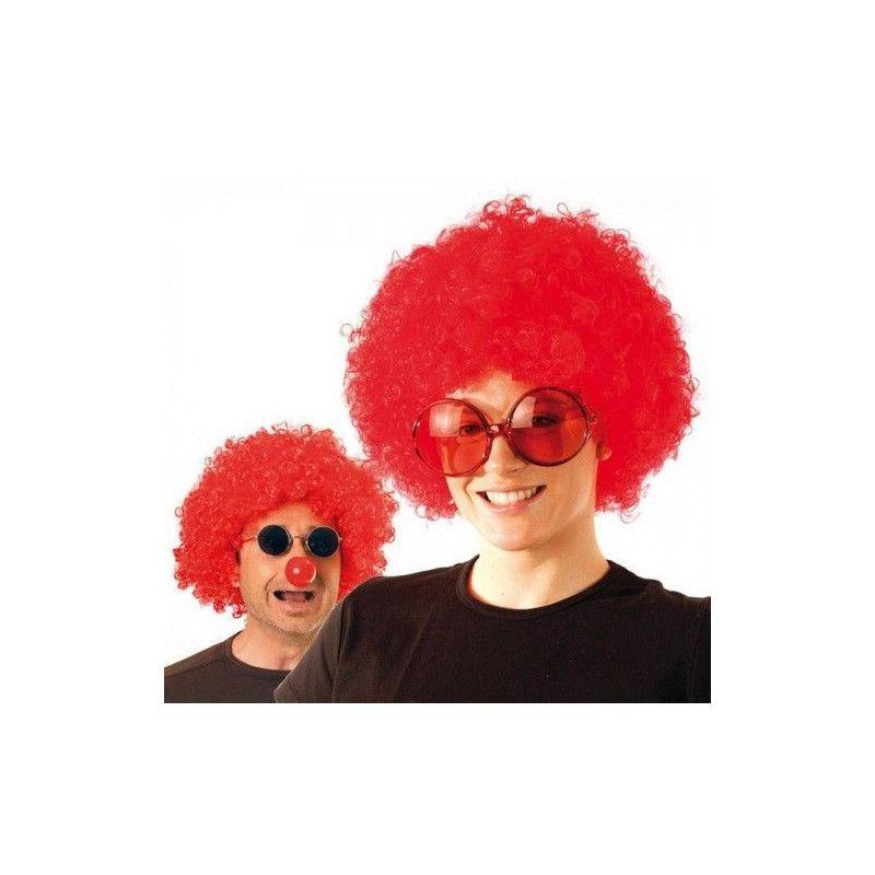 Perruque afro rouge Accessoires de fête 865505