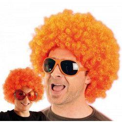 Perruque afro mixte orange Accessoires de fête 865507