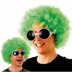 Perruque boule afro verte Accessoires de fête 865508