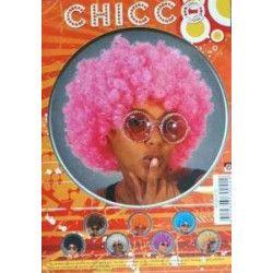Perruque afro rose fluo Accessoires de fête 865510