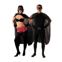 Set super héro noir 3 pièces adulte Déguisements 865520