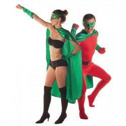 Set super héro vert 3 pièces adulte Déguisements 8655202
