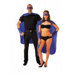 Déguisements, Set super héro bleu 3 pièces adulte, 8655205, 10,90€