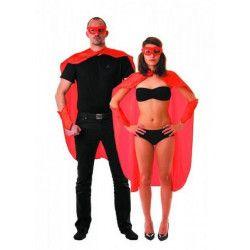 Set super héro rouge 3 pièces adulte Déguisements 8655206