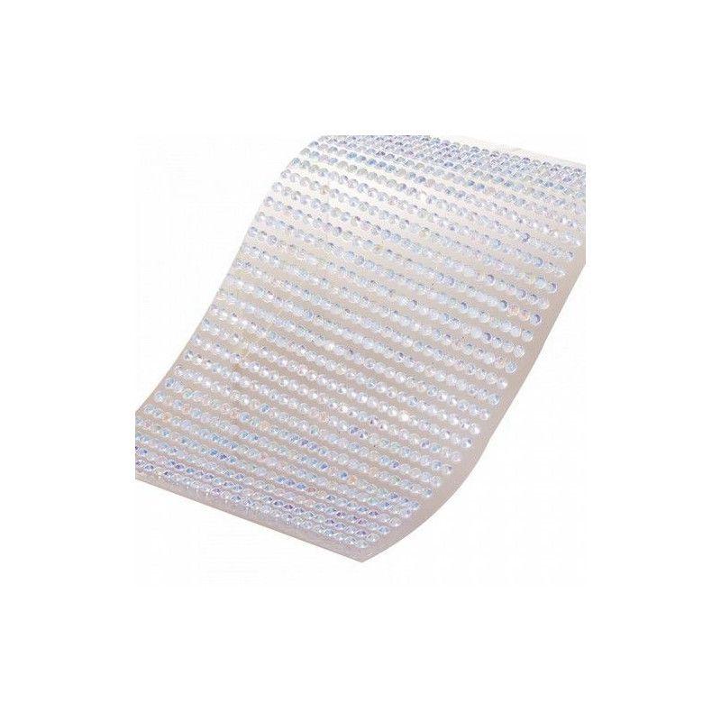Demi-perle transparente à coller Déco festive 12730