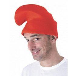 Bonnet de lutin rouge adulte Accessoires de fête 8655261