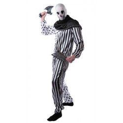 Déguisement clown tueur noir et blanc taille M-L Déguisements 86562