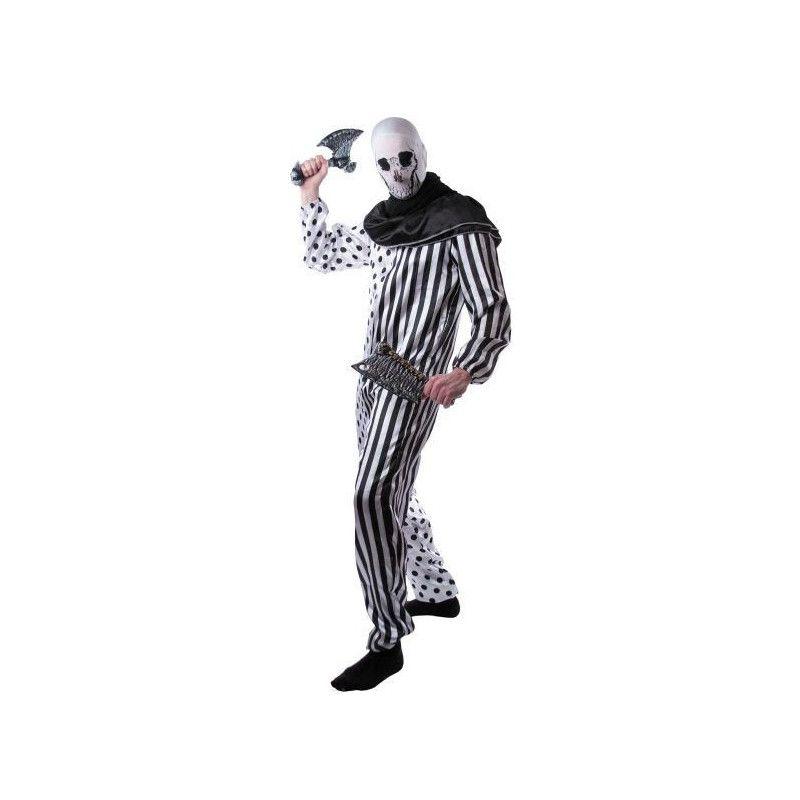Déguisement clown tueur noir et blanc homme taille M-L Déguisements 86562