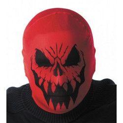 Cagoule halloween monstre rouge Accessoires de fête 86587