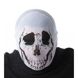 Cagoule halloween tête de mort blanche Accessoires de fête 86588
