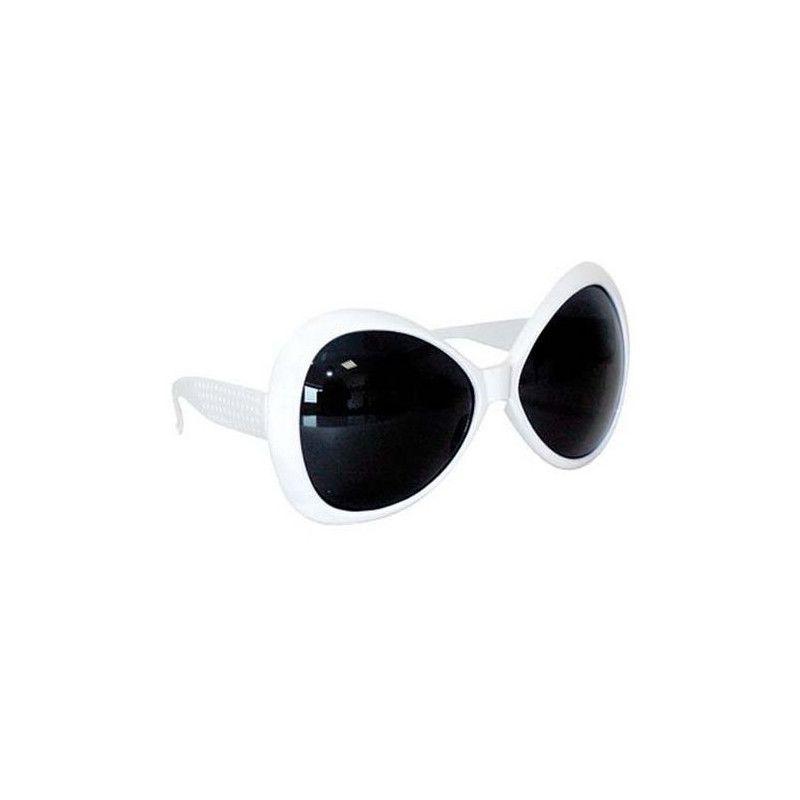 Lunettes diva blanches Accessoires de fête 8710061