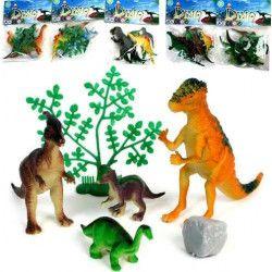 Sachet de 4 animaux dinosaures avec accessoires Jouets et kermesse 12741
