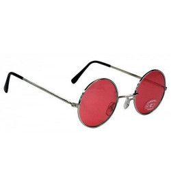 Accessoires de fête, Lunettes hippie rouges, 871118, 1,95€