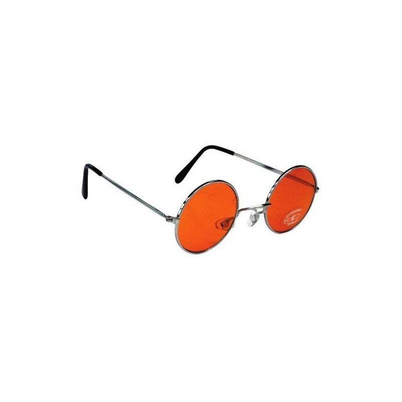 Lunettes hippie orange Accessoires de fête 871119