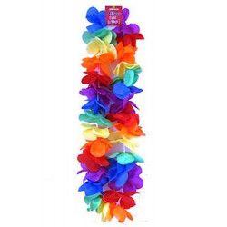 Collier hawai avec fleurs multicolores Accessoires de fête 87140