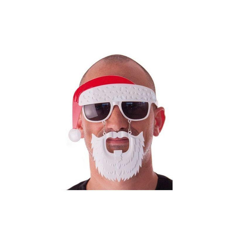 Lunettes bonnet et barbe Père Noël Accessoires de fête 871452