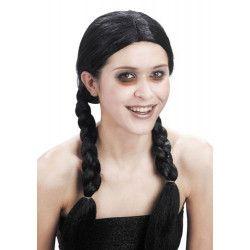 Perruque noire avec nattes Accessoires de fête 87268270