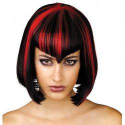 Perruque midnight rouge et noire Accessoires de fête 87268998