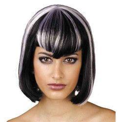 Perruque de sorcière blanche et noire Accessoires de fête 87268999