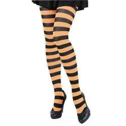 Collant rayé noir et orange Accessoires de fête 87270002